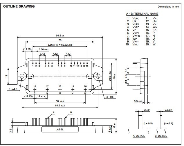 6khz的igbt型逆变器¡内置内置faule oc igbt栅极驱动电路&iexcl