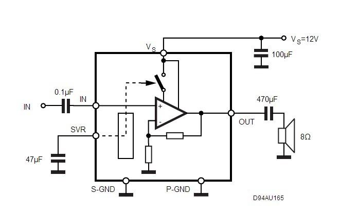 st tda7267 2w单声道放大器 音频处理器 全新原装正品
