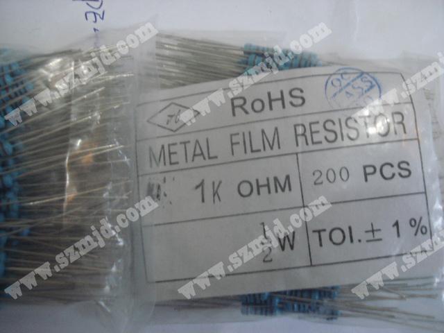 metal film resistor 1Kohm 1/2W